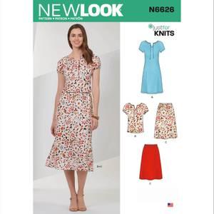 Bilde av New Look N6626 Skjørt, T - skjorte og kjole