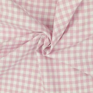 Bilde av Bomull - rosa smårutete