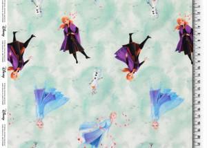 Bilde av French Terry - Frozen Elsa, Anna og Olaf