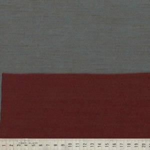 Bilde av Strikket merinoull - tosidig ensfarget i burgunder og blå