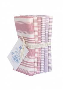Bilde av Tilda Tea Towel Basic Fat Quarter Bundle, red/plum