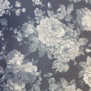 Bilde av Stretch denim - blå blomster