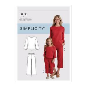 Bilde av Simplicity S9121 Topp og bukse til barn og dame