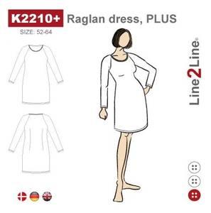 Bilde av Line2Line K2210+ Kjole med raglanerme (str. 52-64)
