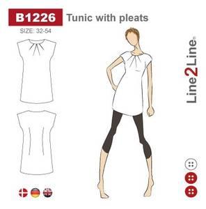 Bilde av Line2Line B1226 Tunika med legg - fast stoff