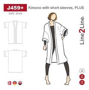 Bilde av Line2Line J459+ Kimono med korte ermer (str. 52-64)
