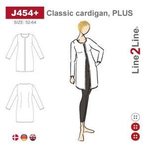 Bilde av Line2Line J454+ Klassisk cardigan (str. 52-64)