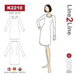 Bilde av Line2Line K2210 Kjole med raglanerme