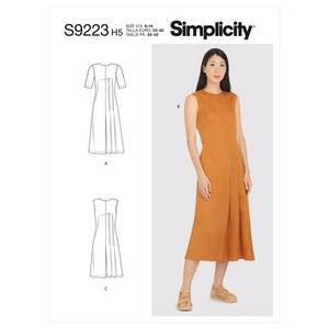 Bilde av Simplicity S9223 Kjole med folder