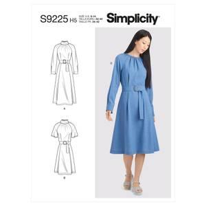 Bilde av Simplicity S9225 Kjole med rynker og folder