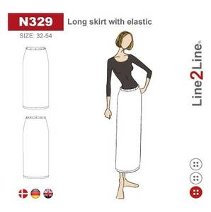Bilde av Line2Line N329 Langt skjørt med strikk