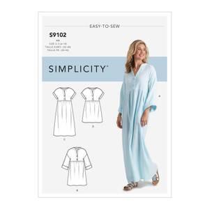 Bilde av Simplicity S9102 Kaftan og kjole