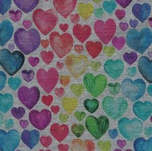 Bilde av Isoli digital hjerter i regnbuefarger